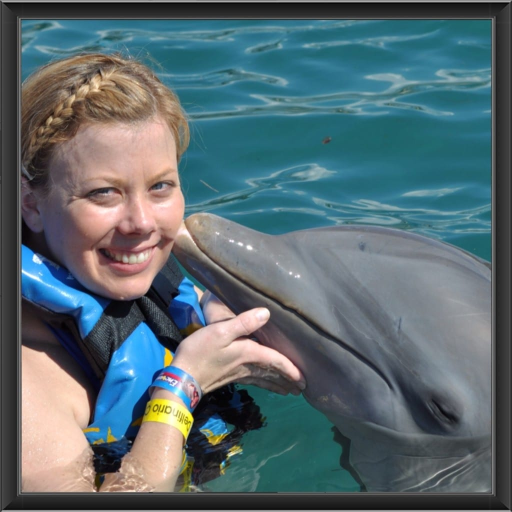 swimming with dolphins at Chankanaab Park in Cozumel