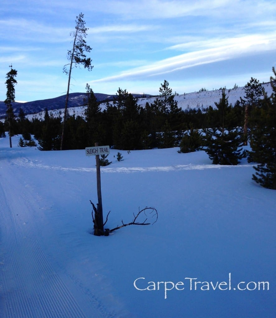 The views on the Two Below Sleigh Ride in Breckenridge are amazing
