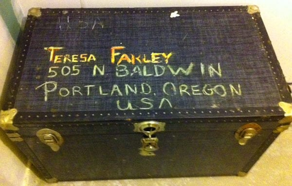 Steamer trunk from the original journey