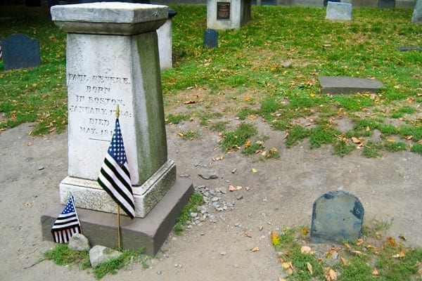 Paul Revere's Orignal and New Gravestones in Boston by Jenna Kvidt at WanderTheMap.com