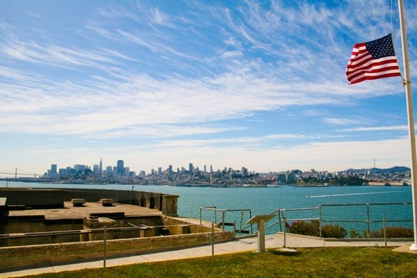 San Francisco Skyline from Alcatraz Island by Jenna Kvidt at WanderTheMap.com