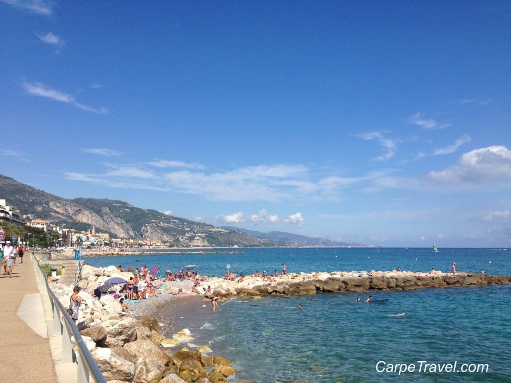rocky beaches menton france