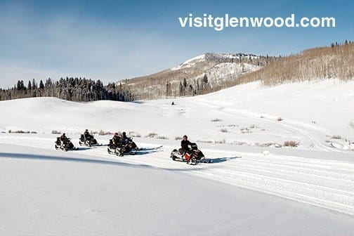 things to do in Glenwood Springs in the winter: snowmobiling