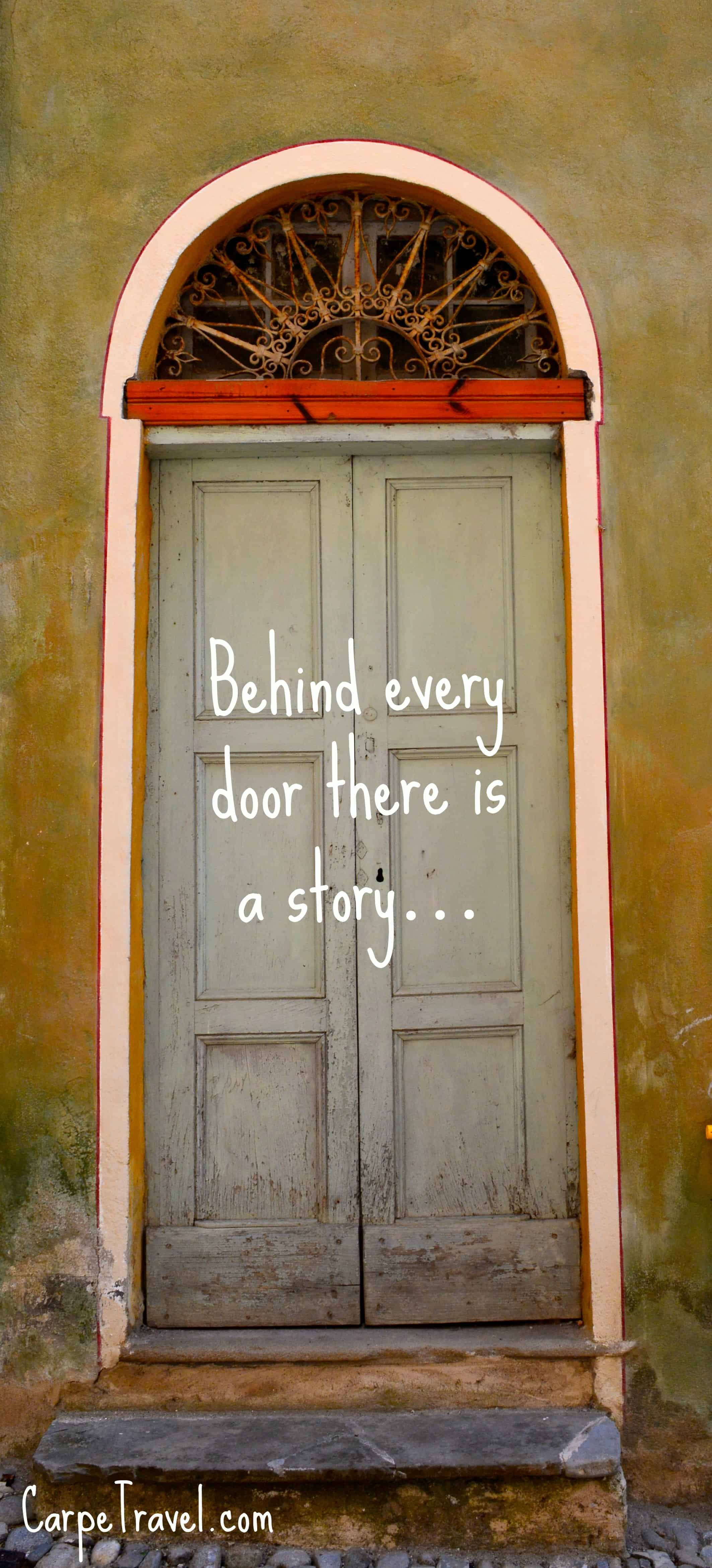 Behind every door there is a story... Click through to enjoy Carpe Travel\u0027s & Behind every door (\u0026 window) there is a story\u2026