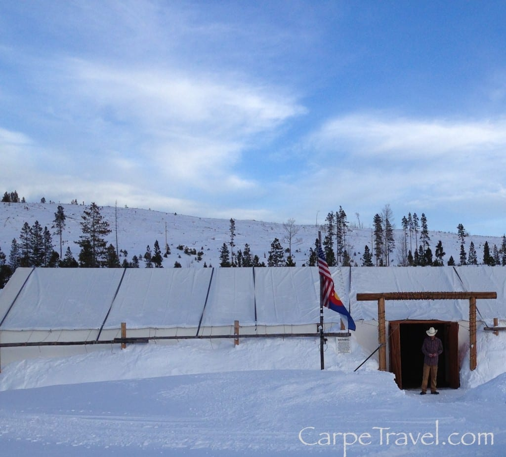 Two Below Zero Sleigh Rides, the Dinner Tent is heated and cozy.