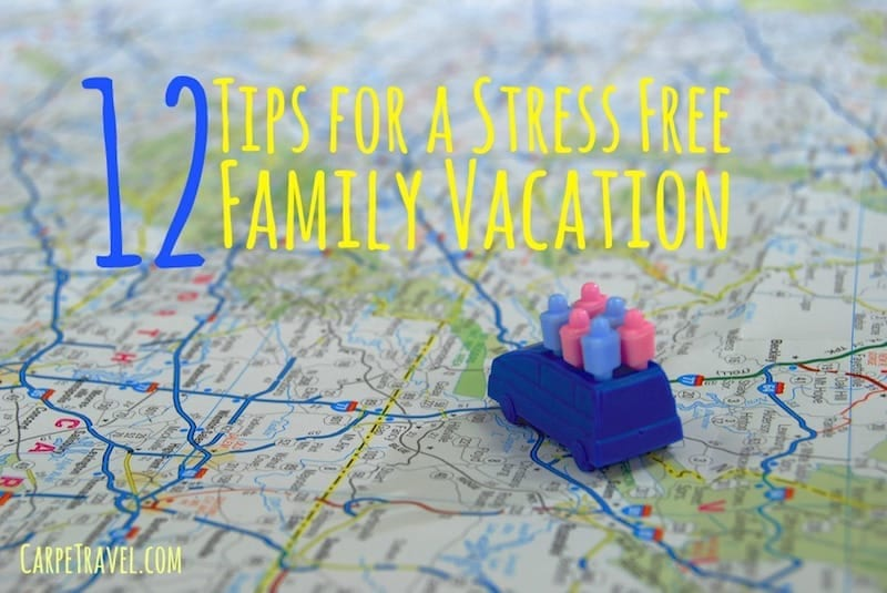 I can't promise your travels will be stress free but these 12 Tips for a Stress Free Family Vacation may help when the world is on the verge of melt down mode.