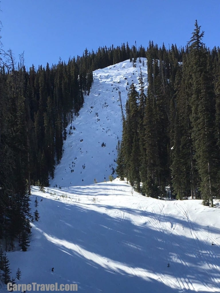 The steepest cut run in North America is located at Crested Butte Mountain Resort, it's the Rambo ski run.
