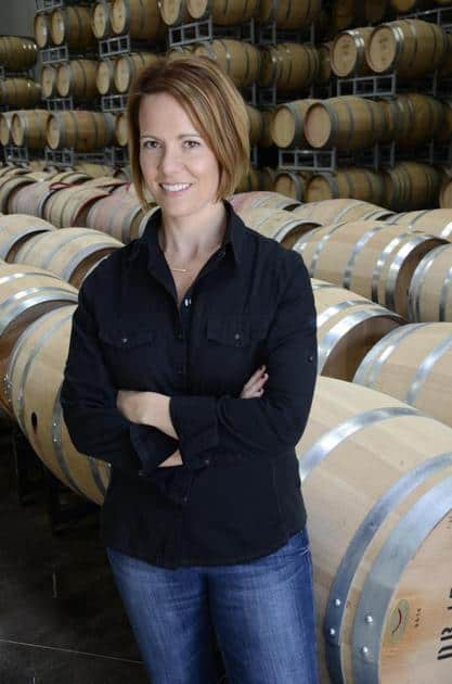 Jessica in barrel room