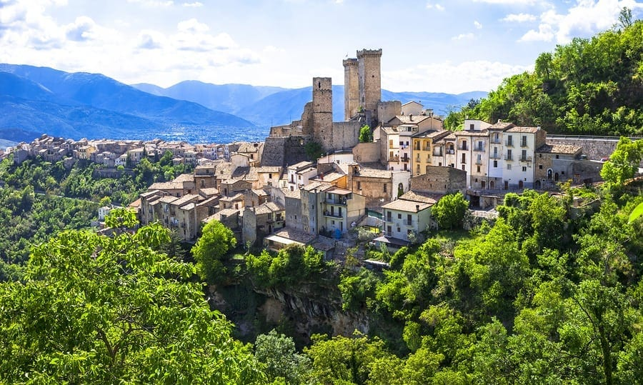 Traveling abroad can be prohibitively expensive but if you want to stretch your dollars and make the most of your vacation, check out these surprisingly affordable international spots including Abrusso, Italy. This photo is of Pacentro, an impressive medieval village in Abruzzo,Italy