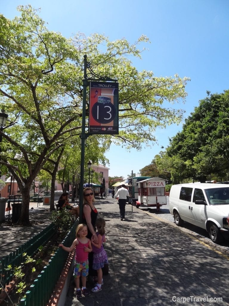 Things to do with kids in San Juan Puerto Rico: Explore Old San Juan and ride the trolley. It's hop on and hop off ability lets you take much needed breaks while seeing the sights.