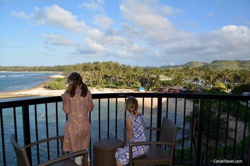 The views from the balcony at Turtle Bay Resort are stunning, allowing you to sit back and watch the enormous waves Oahu's North Shore is famous for. Click over to read the full Turtle Bay Resort review.