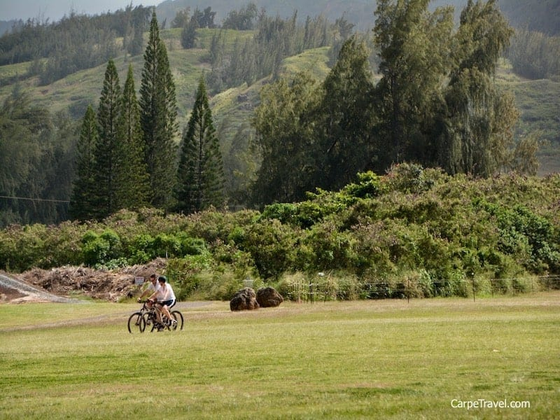 With more than 800 acres to explore at Turtle Bay Resort on Oahu's fabled North Shore, renting a bike will help you see everything in no time. Click over to read the full Turtle Bay Resort review.