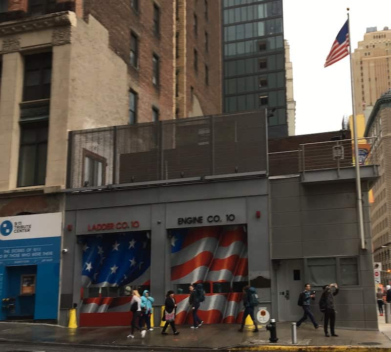 The first responders for the 9/11 attack came from this fire station, which is across the street from where the Twin Towers stood. More than 340 firefighters from the New York City Fire Department lost their lives helping save others... Photo by Elaine Schoch, Carpe Travel