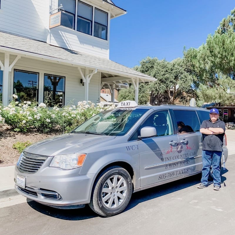 Jose at Wine Country Cab & Wine Tours - a great day of sipping through Santa Ynez Valley Wineries